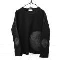 【frankygrowフランキーグロウ】CS-295/WAFFLE BEAR MT SWITCHING L/S TEE -BEAR MT ELBOW PATCH/WOMEN