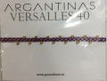 【guanabana ARGANTINAS40】ミサンガブレス/パープルピンク×ゴールド