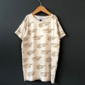 【arkakama】AKT00350-V/VISCOSE S/S Tee/Overe There(S.BLEACH x GOLD)