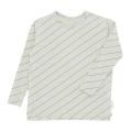 【tinycottons】AW18-002_B80/diagonal stripes ls relaxed tee/pistacho*navy