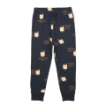 【tinycottons】AW18-076_B63/friendly bags fleece pant/navy eggnog red