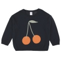 【tinycottons】AW18-201_B68/cherries sweater/navy*red