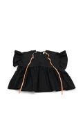 【UNIONINI】BL-003/ribbon blouse/black
