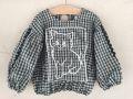 【UNIONINI】BL-005/cat blouse/green