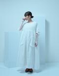 【UNIONINI】CO-016/short sleeved long coat/white