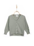 【DONSJE】Finn Cardigan Grey Green Cotton