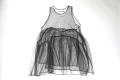 【UNIONINI】OP-050/tulle apron dress/black 子供と大人