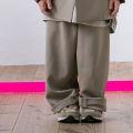 【MOUNTEN.】polyester canapa widepants