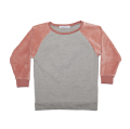 【MINGO.】 MI1800392A2/Velvet sweater/Grey melange*Raspberry