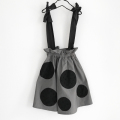 【frankygrowフランキーグロウ】BT-185/UNEVEN DOTS STRAP SKIRT/GRAY