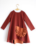 【WOLF & RITA】CLAUDIA - Dress/BORDEAUX /ORANGE