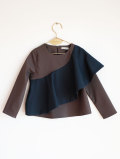 【WOLF & RITA】RITA - Blouse/GREY /BLUE