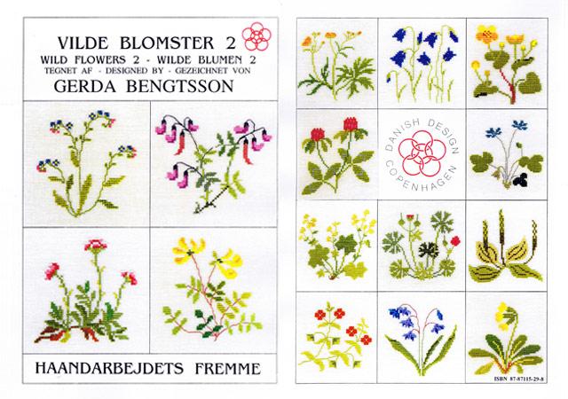 〔Fremme〕 図案集 52-2102 Wild Flowers-2