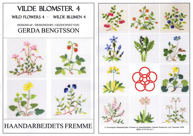 〔Fremme〕 図案集 52-2108 Wild Flowers-4