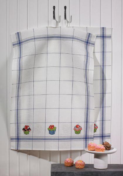 〔Permin〕 キッチンタオル 70 x 50 m / ブルー