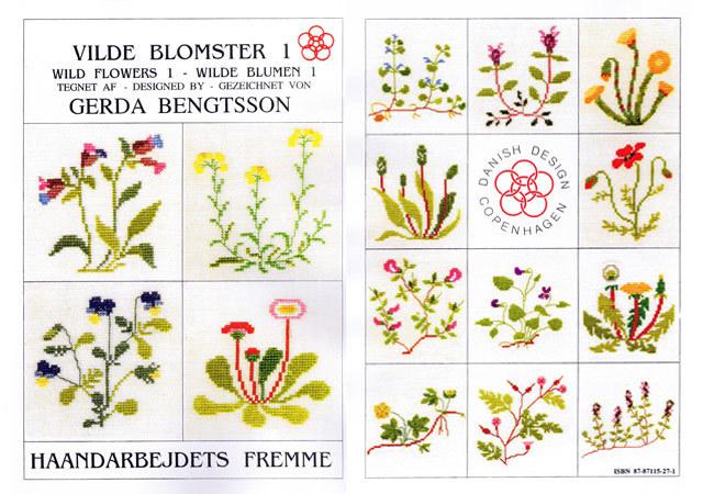 〔Fremme〕 図案集 52-2101 Wild Flowers-1
