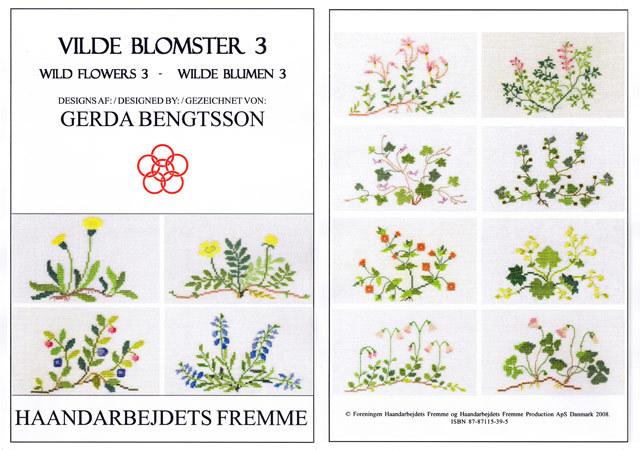 *〔Fremme〕 図案集 52-2107 Wild Flowers-3