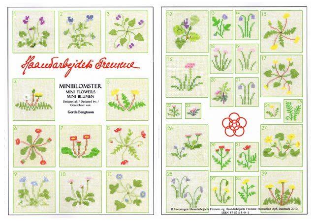 *〔Fremme〕 図案集 52-2109 Mini Flowers