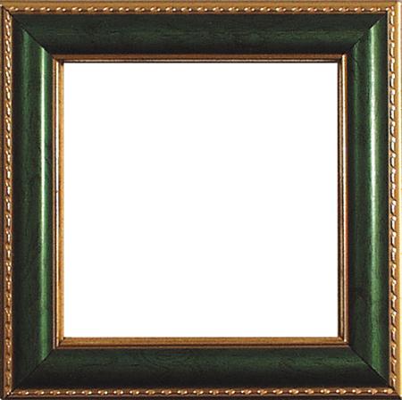 〔Permin〕 フレーム 緑/ゴールド  9x9cm