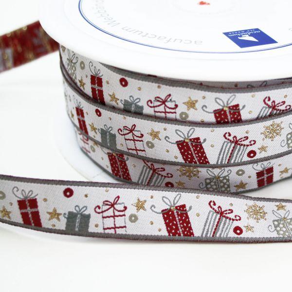*〔A-35177〕 リボンテープ  クリスマスプレゼント 1.6cm幅  (10cm単位)