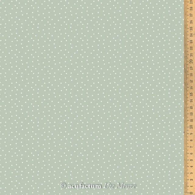 **〔Acufactum〕 A-3523-808 生地 / ドット - グレーグリーン  (1m単位)