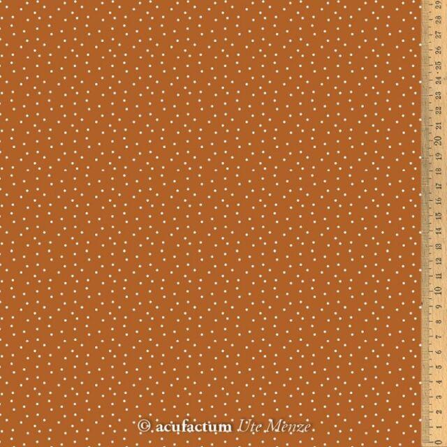 **〔Acufactum〕 A-3523-821 生地 / ドット - ブラウン  (1m単位)