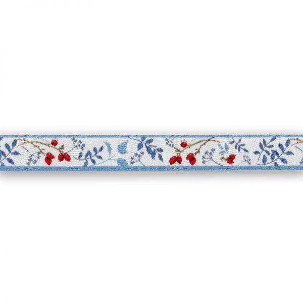 *〔A-35272〕 リボンテープ   ローズヒップと葉 1.6cm幅  (10cm単位)