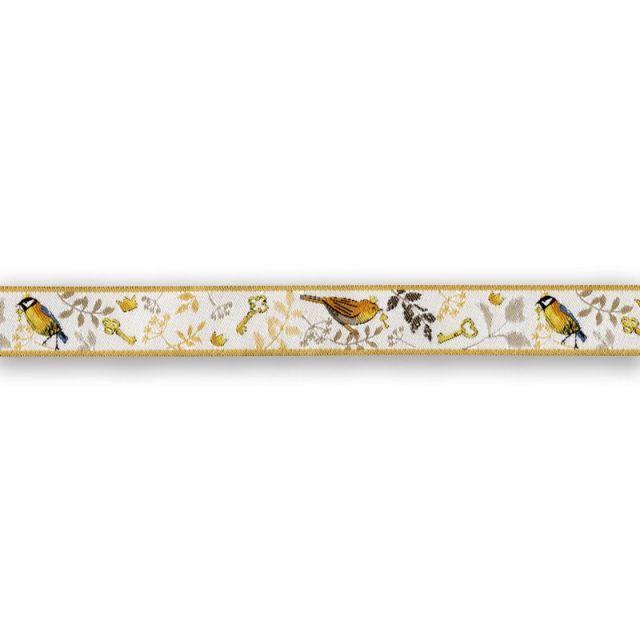 *〔A-35273〕 リボンテープ  小鳥の王子様 1.6cm幅  (10cm単位)