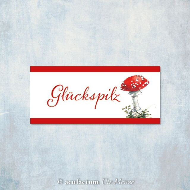 **〔Acufactum〕 A-35334 織ラベル / Gluckspilz
