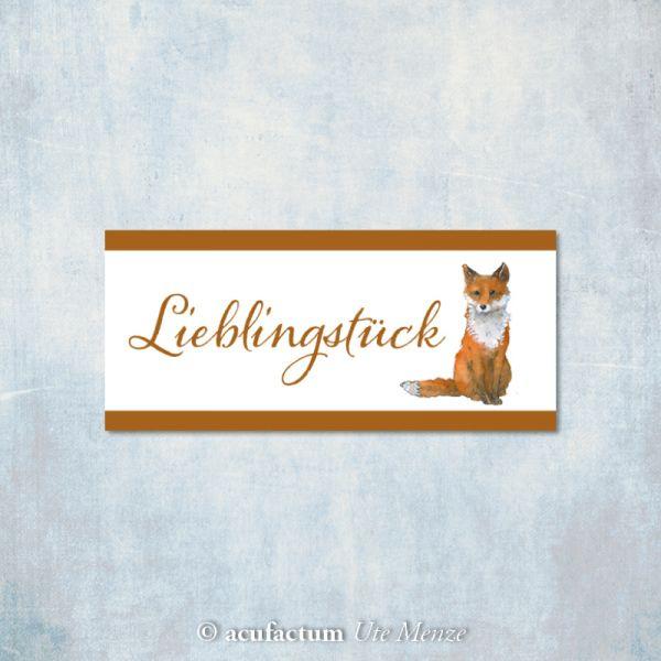 **〔Acufactum〕 A-35339 織ラベル / Lieblingsstuck Fuchs