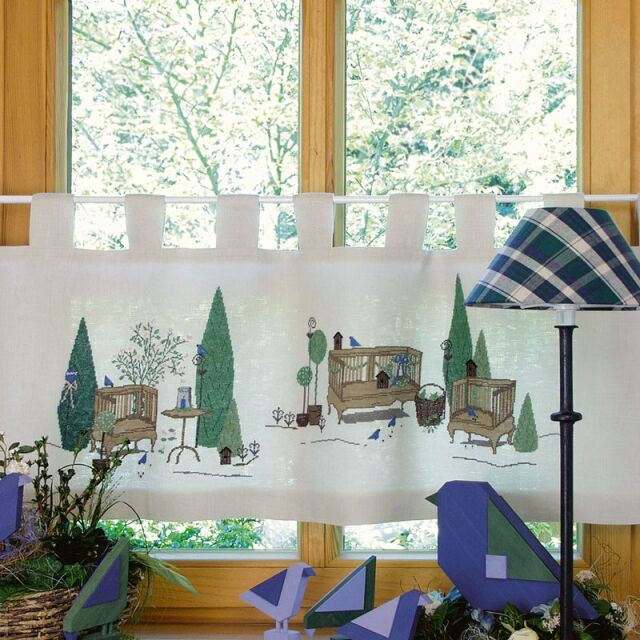 **〔Acufactum〕 図案 / A-8-2248 /  Gartenromantik Gardine