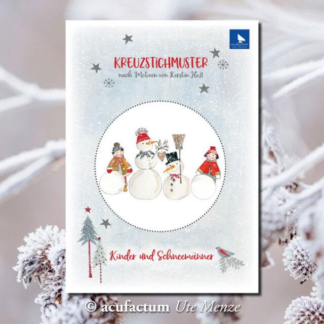 〔Acufactum〕 図案 A-82925 Kinder und Schneemanner