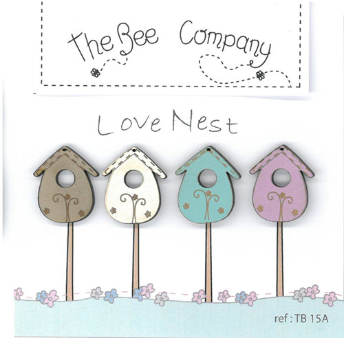 **〔The Bee Company〕 ウッドボタン  TB15A