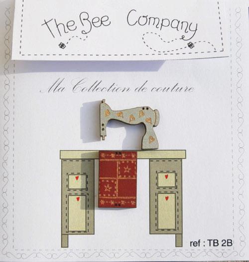 〔The Bee Company〕 ウッドボタン  TB2B