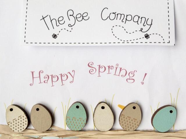 〔The Bee Company〕 ウッドボタン  TB7C 【即日発送可】