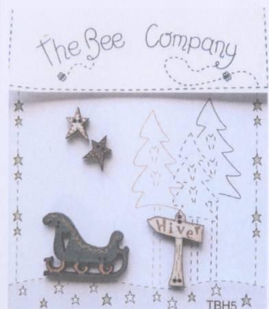 〔The Bee Company〕 ウッドボタン  TBH5