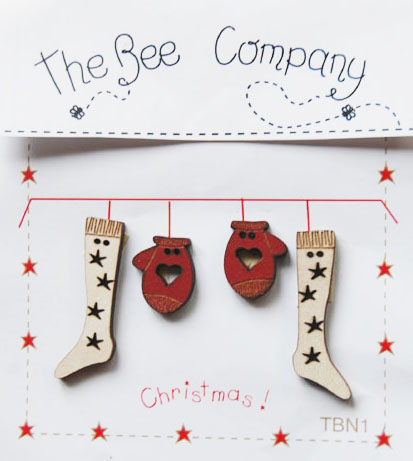 〔The Bee Company〕 ウッドボタン  TBN1