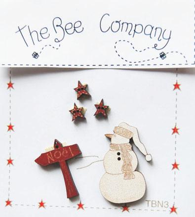 〔The Bee Company〕 ウッドボタン  TBN3 【即日発送可】