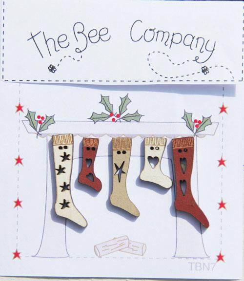 〔The Bee Company〕 ウッドボタン  TBN7