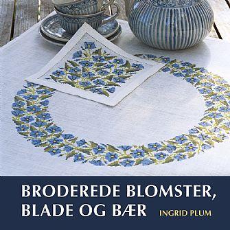 *〔Klematis〕 Broderede blomster, blade og bær (表・裏表紙に多少スレがありますことをご了承ください)