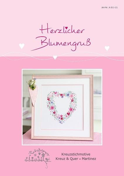 **〔Kreuz&Quer〕 図案 KQ-A011-21 Herzlicher Blumengruss