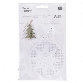 〔Rico Design〕 08792.78.77 紙刺繍  / クリスマス 【即日発送可】