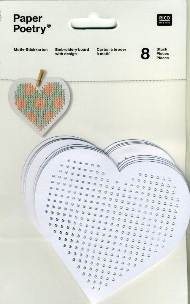 〔Rico Design〕 08792.78.80 紙刺繍  / ハート