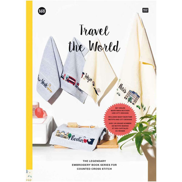 〔Rico Design〕 図案集 No.165 Travel the world