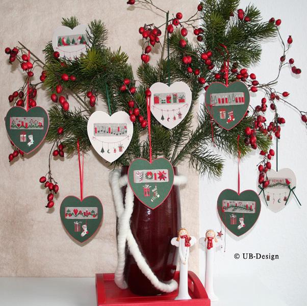 **〔UB Design〕 図案 UB-882 Weihnachtsbandchen