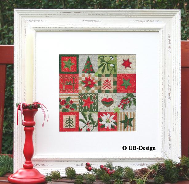 **〔UB Design〕 図案 UB-919 Weihnachtspatchwork