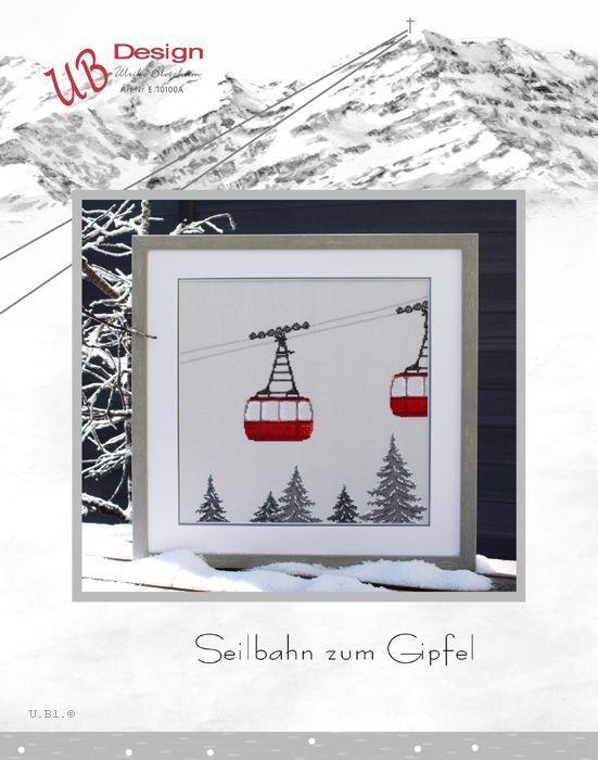 **〔UB Design〕 図案 UB-E-10100A Seilbahn zum Gipfel