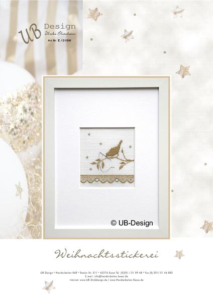 **〔UB Design〕 図案 UB-E-1018W Weihnachtsstickerei