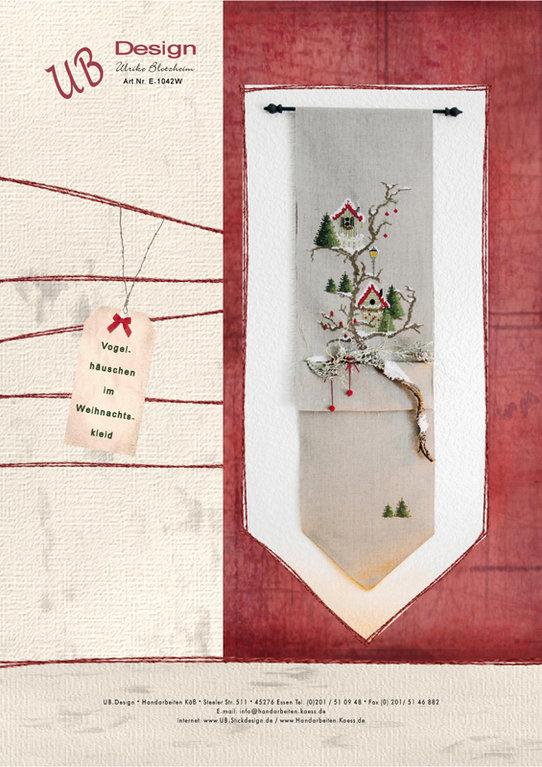 **〔UB Design〕 図案 UB-E-1042W Vogelhauschen im Weihnachtskleid