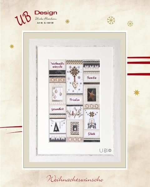 **〔UB Design〕 図案 UB-E-1051W Weihnachtswünsche
